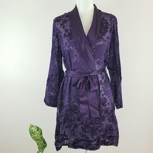 VTG Valentino Intimo Silk Burnout Robe